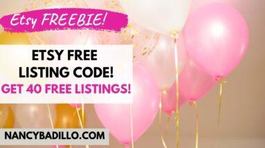 Etsy Free Listing Code 2021 | Etsy Tips 2021