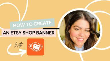 How To Make An Etsy Banner | Picmonkey Tutorial | Nancy Badillo
